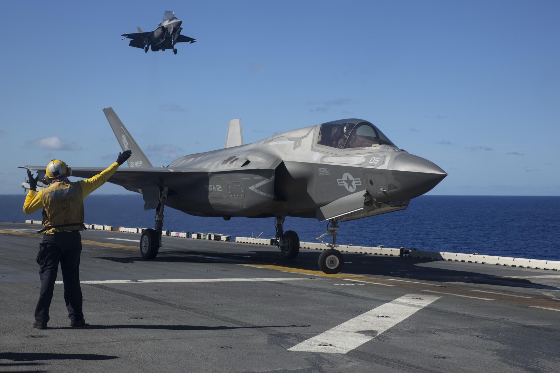 F-35B flight operations aboard USS Wasp