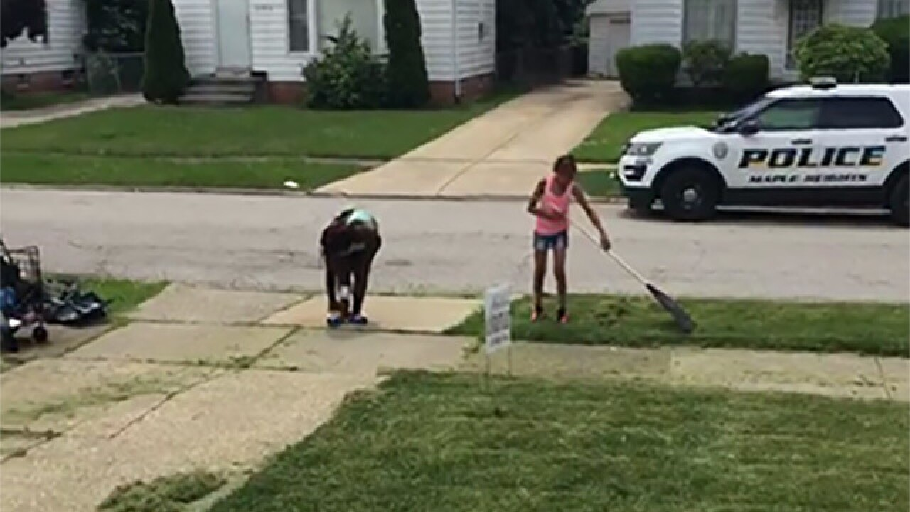 Neighbors call police on 12-year-old mowing grass, boy turns viral video into more business