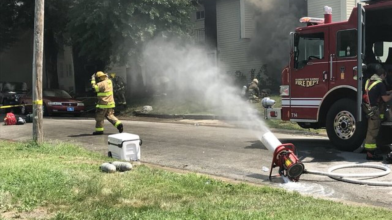 Two dead, two critical in KCK apartment fire