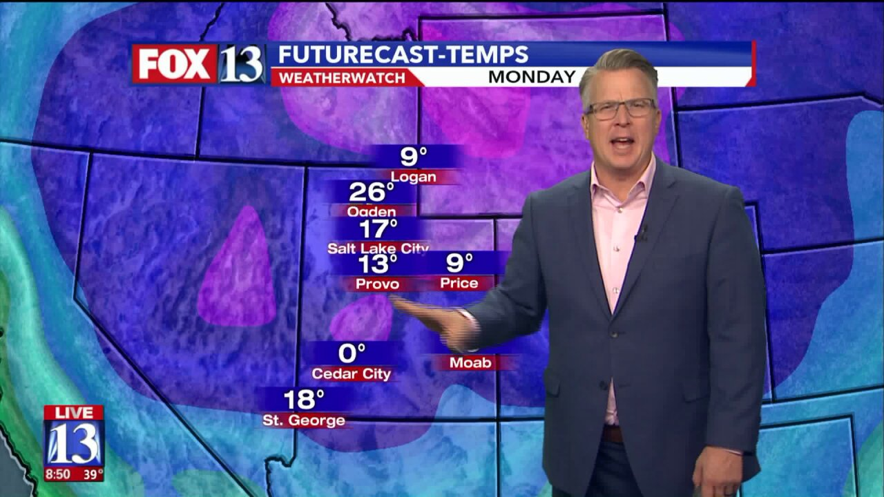 Cold front to bring major drop in temperatures toUtah