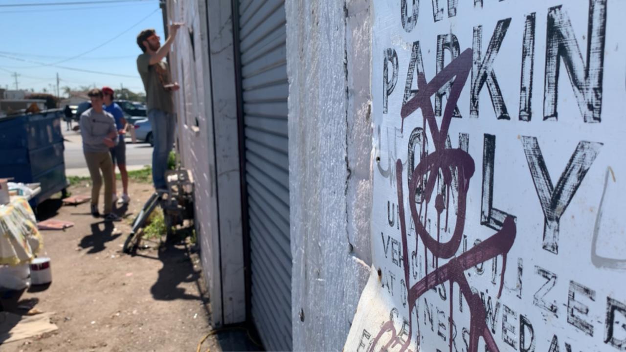 High Tech High students paint mural in Chula Vista