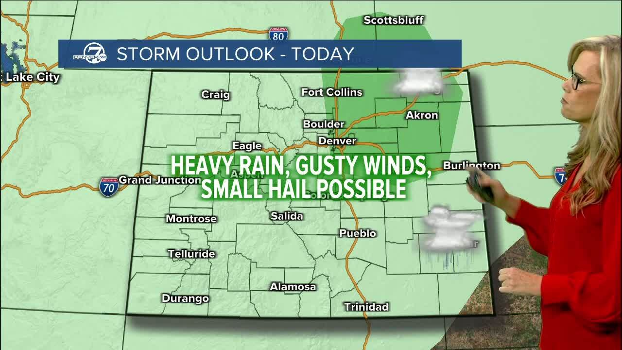 storms possible today