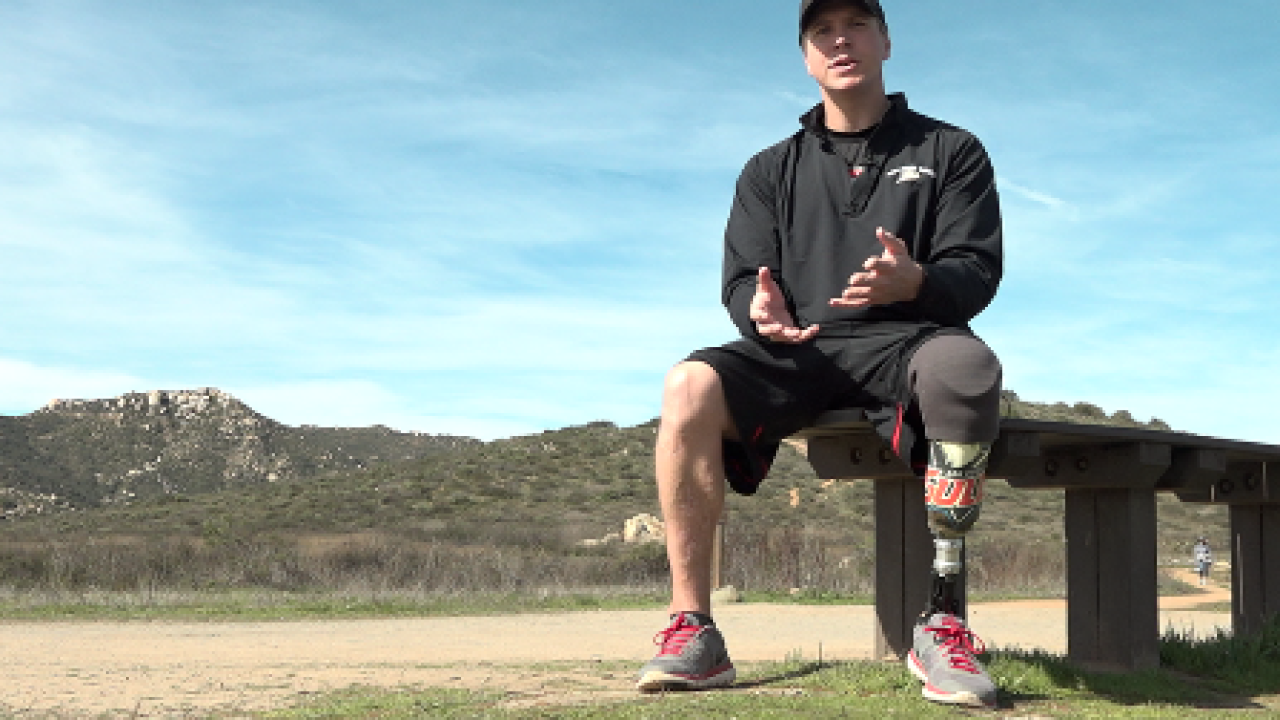 San Diego war veteran who lost leg in Iraq now on a path to inspire