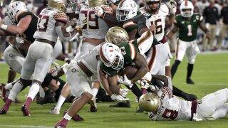 Miami Hurricanes running back Cam'Ron Harris scores TD vs Florida State Seminoles in 2020