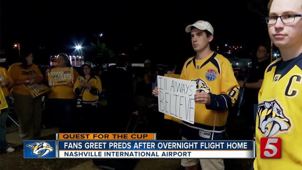 Preds Return Home After 2-Game Loss In PGH