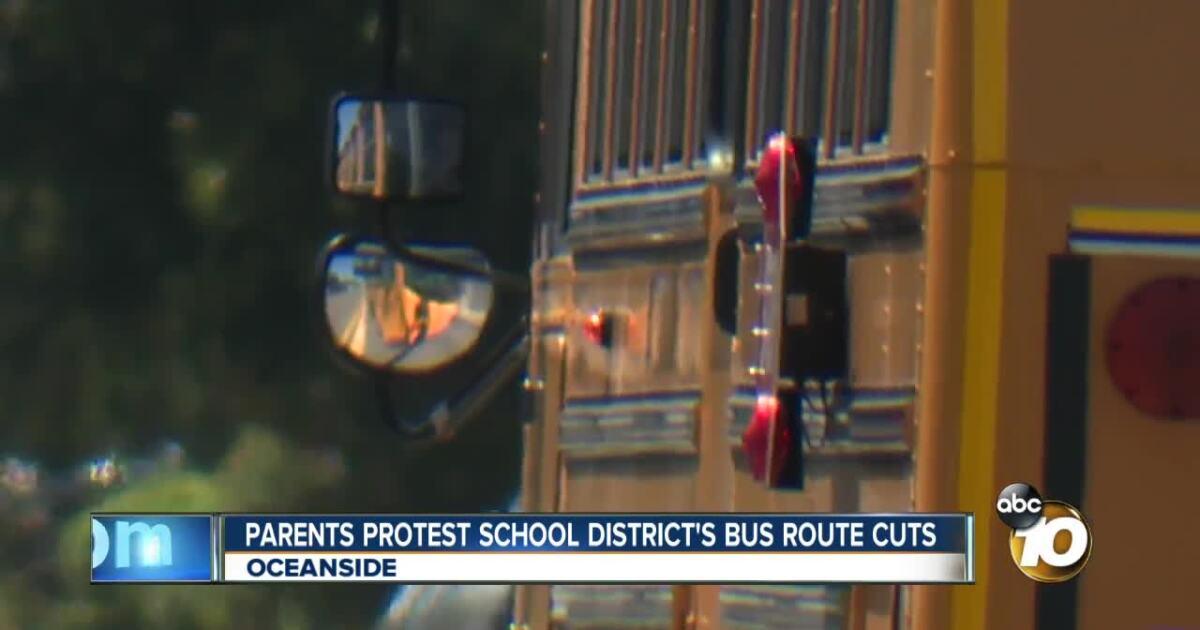 Oceanside parents protest district bus route cuts