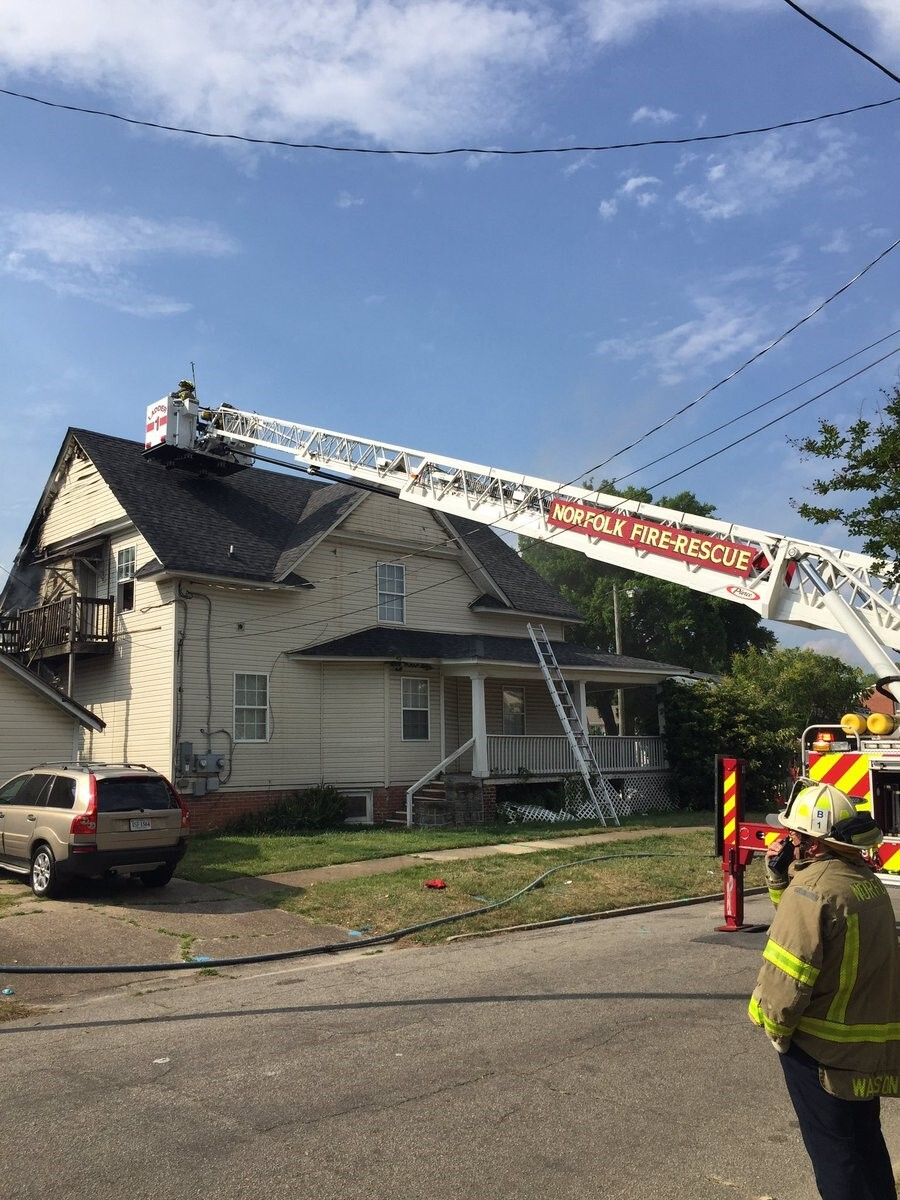 Photos: Six displaced after Norfolk house fire