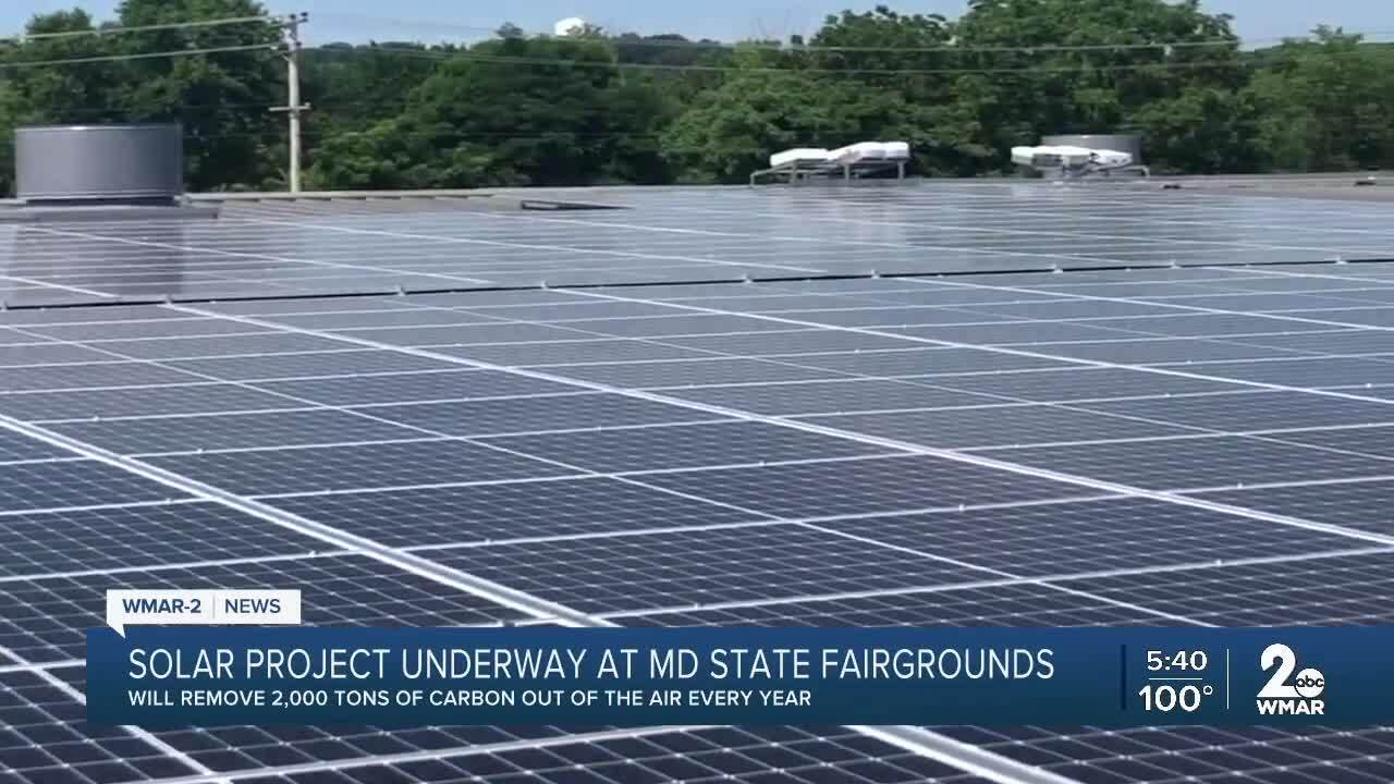 Solar project underway at Maryland State Fairgrounds