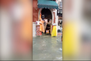 Venice floodwaters damage iconic landmarks