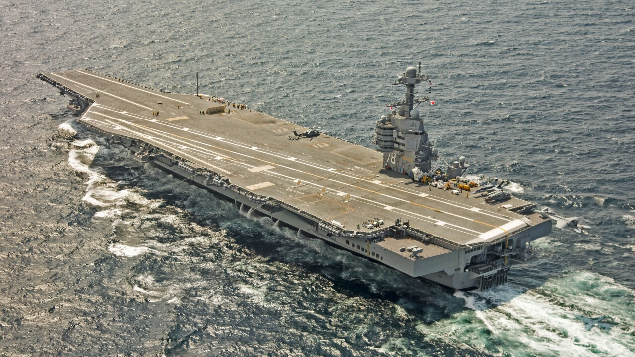 U.S. Navy announces intent to block buy two Ford-class aircraft carriers