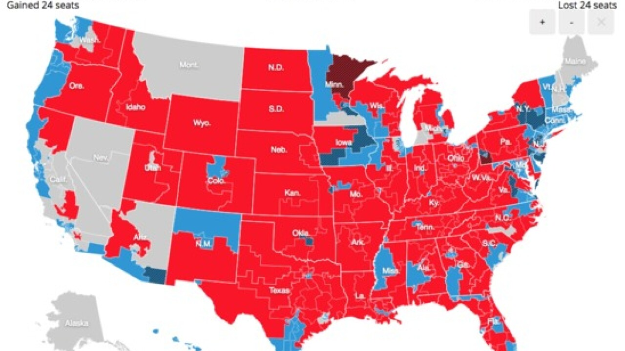 ABC News predicts that Republicans will keep control of Senate, Democrats to gain control of House