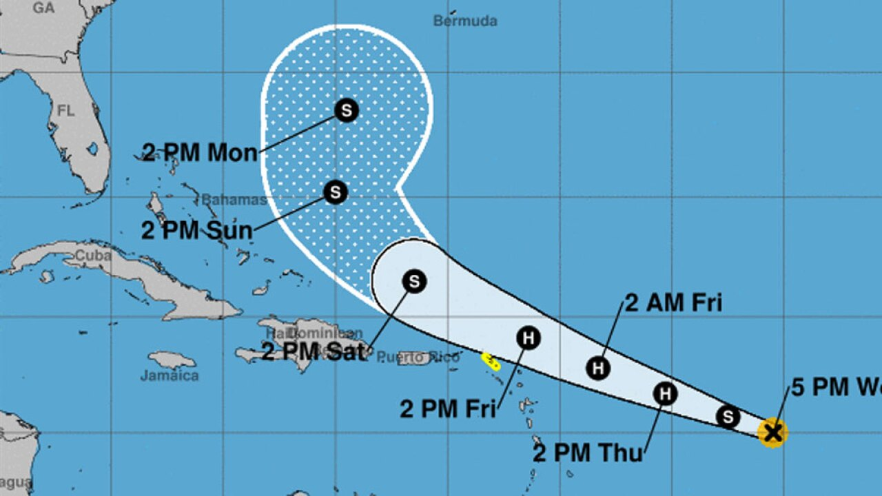 Tropical Storm Jerry continues to strengthen in Atlantic Ocean