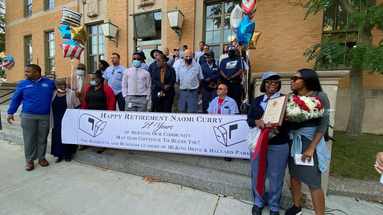 Milwaukee mail carrier retirement celebration