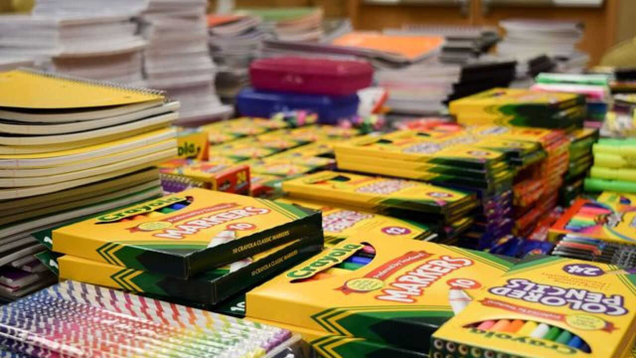 Treasure Island donates school supplies