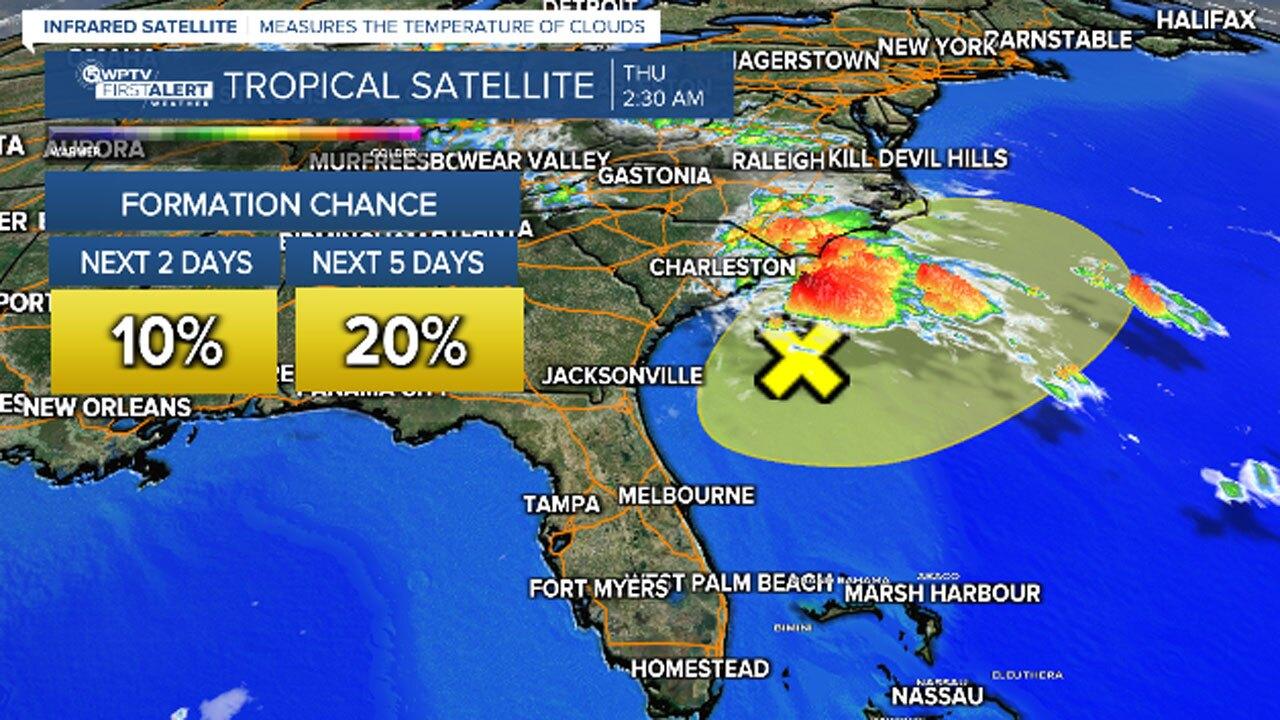 Low-pressure system off U.S. coast, Oct. 7, 2021