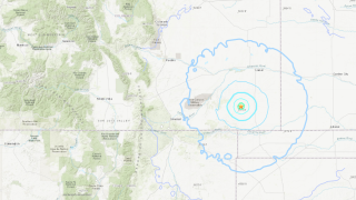 Sep 13 2021 small earthquakes in SE Colorado_USGS map