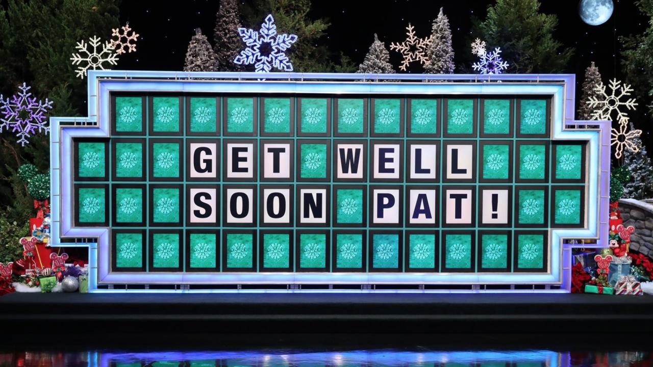 Vanna White fills in as 'Wheel' as Pat Sajak has emergency surgery