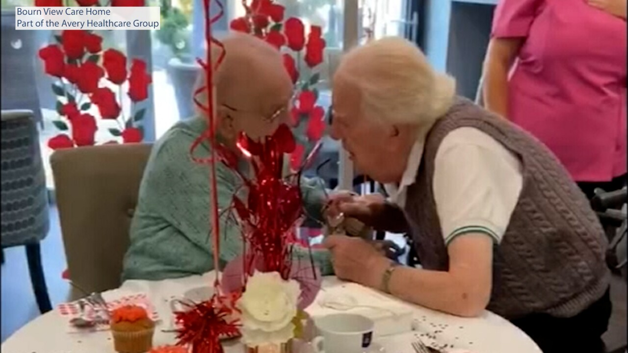 Elderly couple's emotional reunion caught on camera