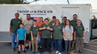 Boy scouts Morgan City feed Delta victims.jpg