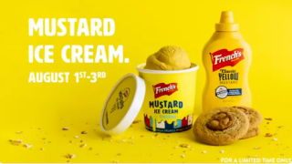 French's announces limited-edition ice cream flavor for National Mustard Day