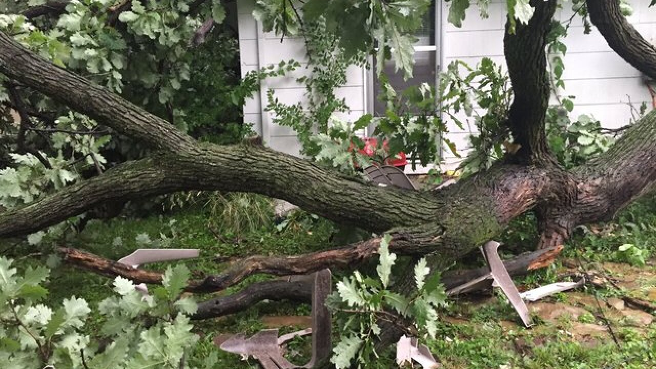 PHOTOS: Strong storms damage houses in KC metro