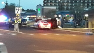 Part of southbound Academy Blvd. in Colorado Springs is closed after a carjacking and police chase that ended in a major crash. .jpg