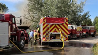 Florence woman, pets unharmed after explosion and fire