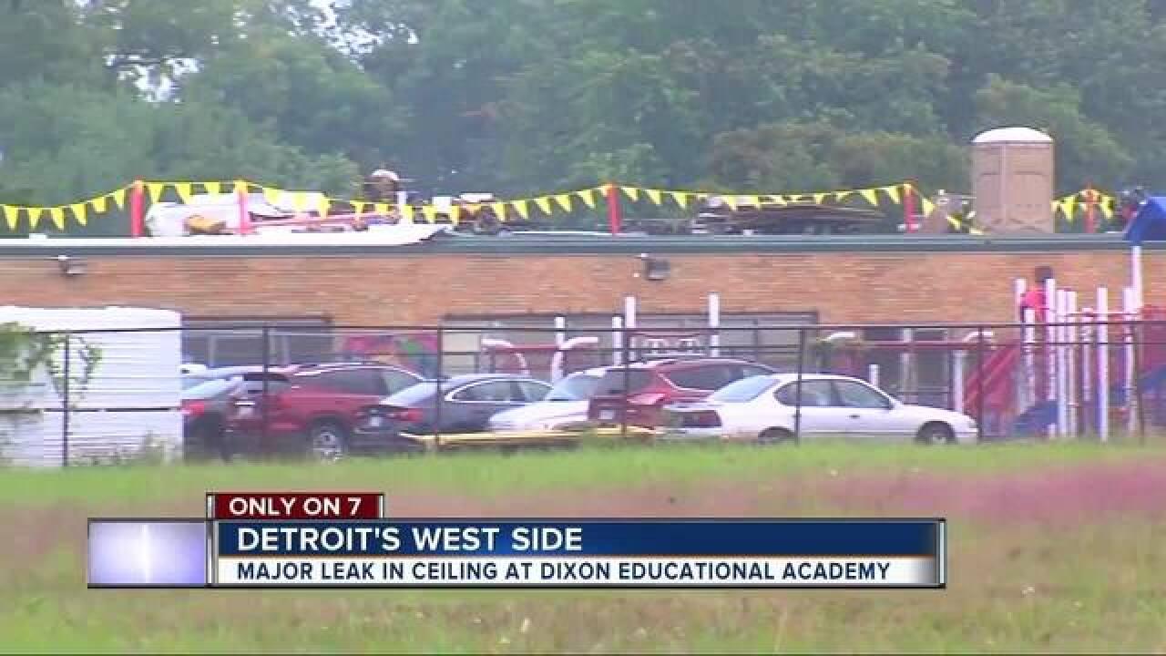 Old roof leads to major leaks inside school