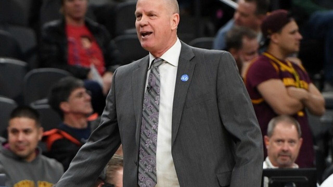 Colorado coach injures himself at end of ASU basketball game