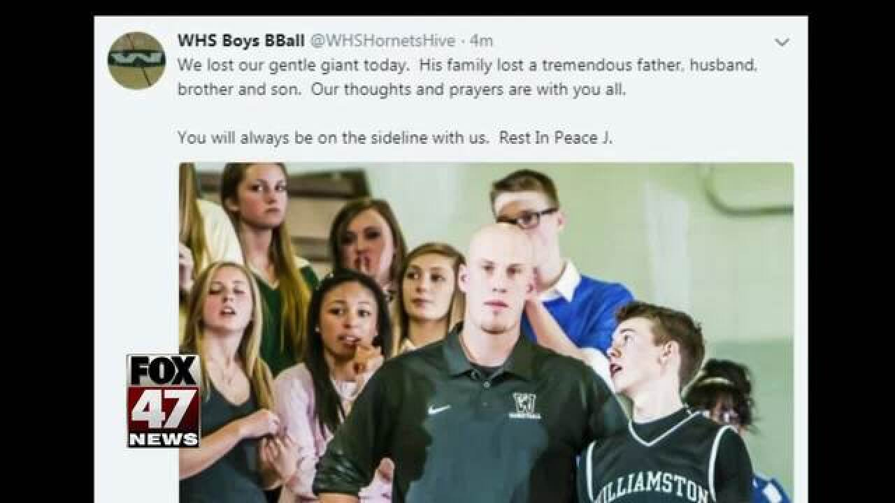 Williamston's coach Jason Bauer dies