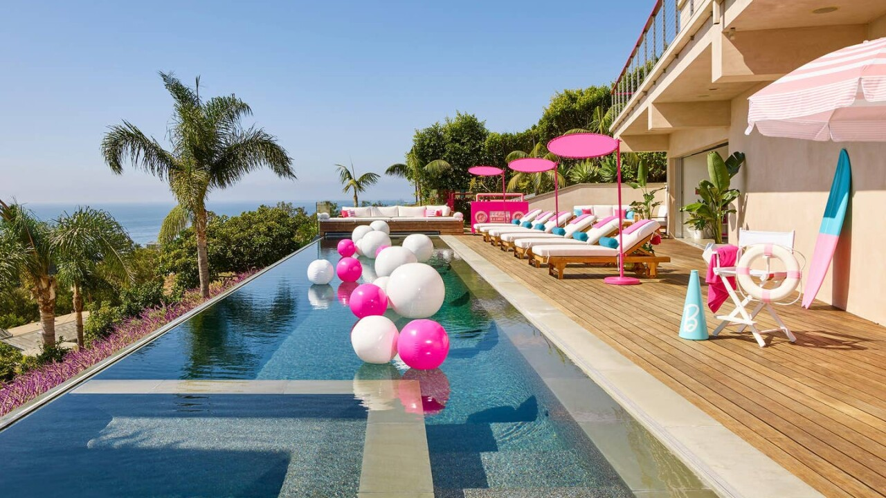 You can rent a live-size version of Barbie's Malibu Dreamhouse on Airbnb