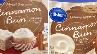 Pillsbury Has Cinnamon Bun Cake Mix And Frosting