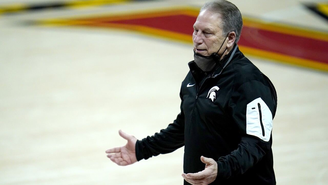 Tom Izzo Michigan State Maryland Basketball