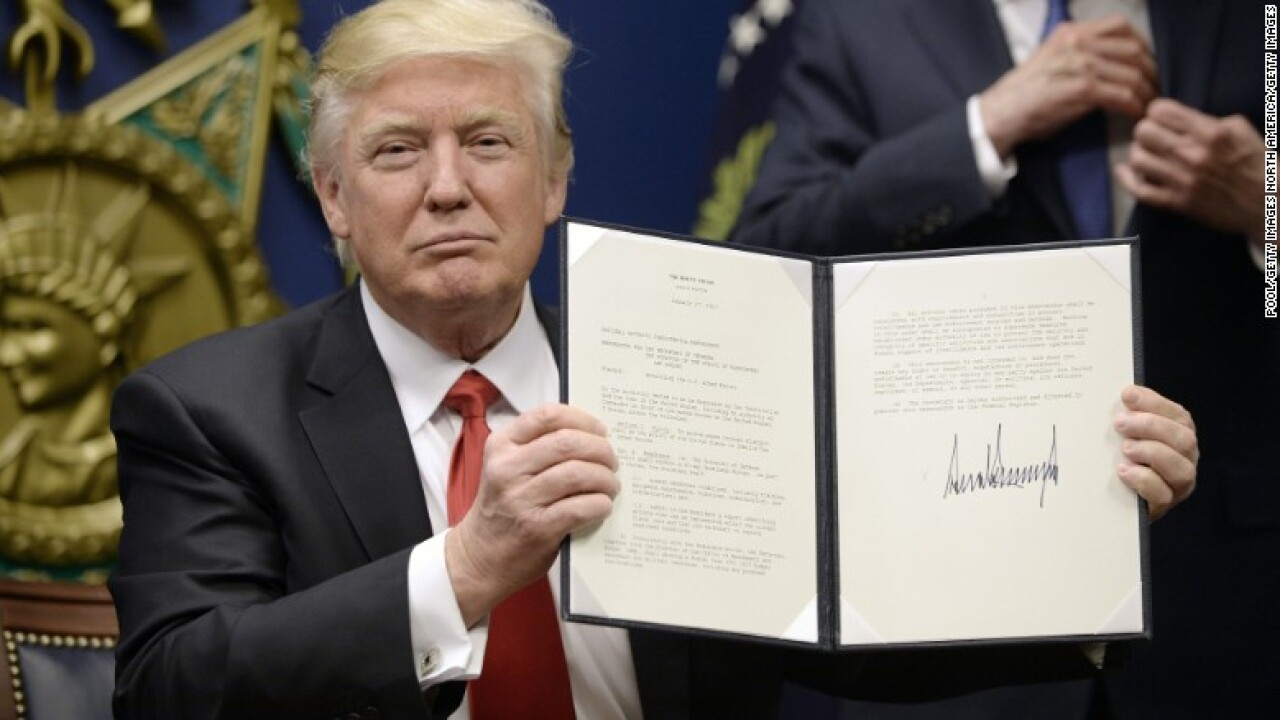 Trump's immigration ban stuns the world