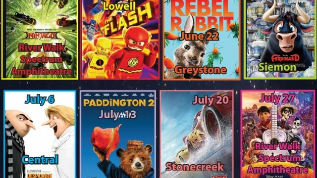 Movies in the Park series taking place around Bakersfield