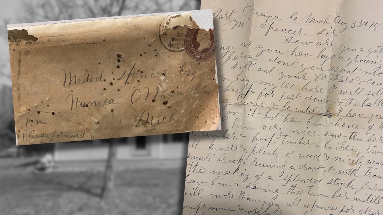 1886 Letter Found in Nunica