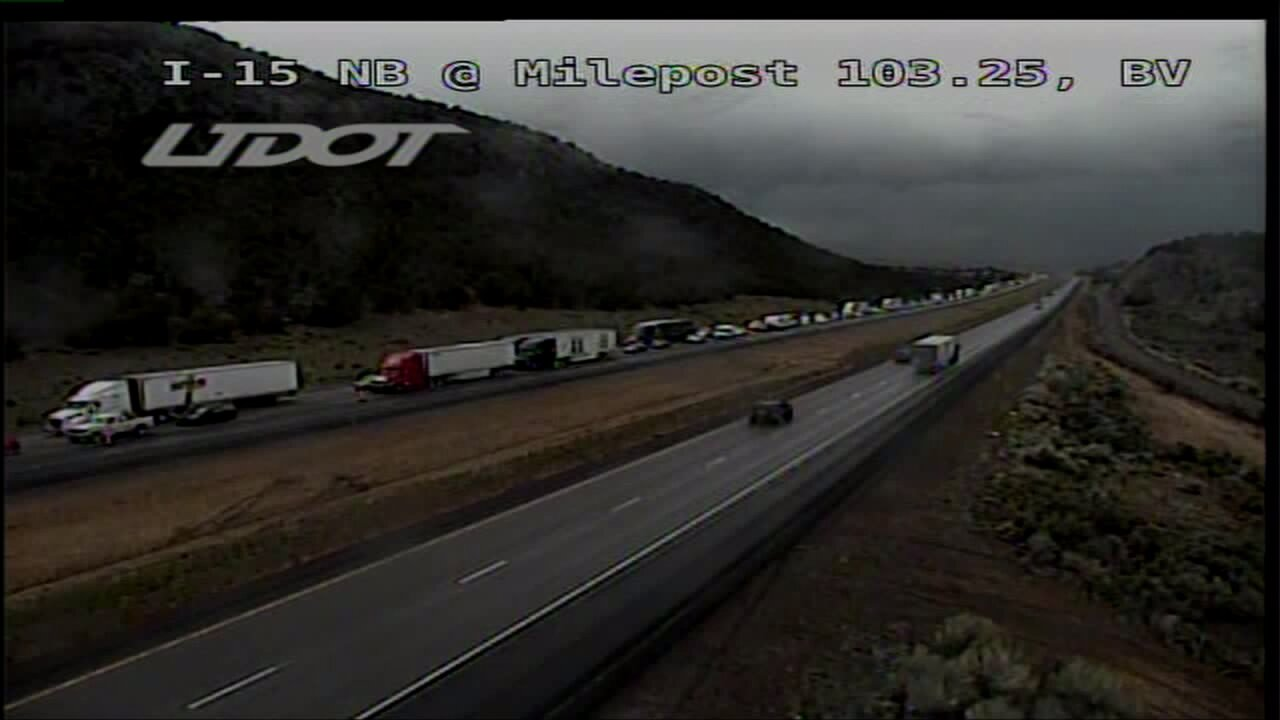 Hailstorm leads to crashes on I-15 near Beaver
