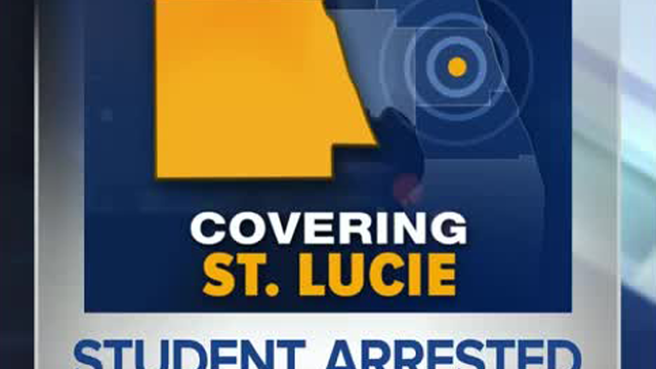 Student arrested following threatening statements, St. Lucie County Sheriff's Office says