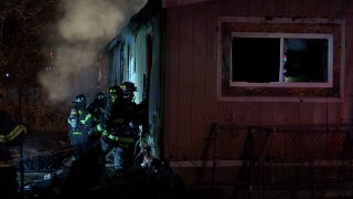 Fire guts a mobile home on Stone Street in Billings Saturday night
