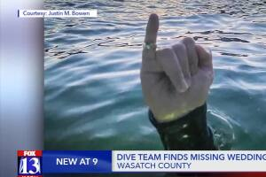 Search and rescue volunteers find Utah woman's lost diamond ring in reservoir