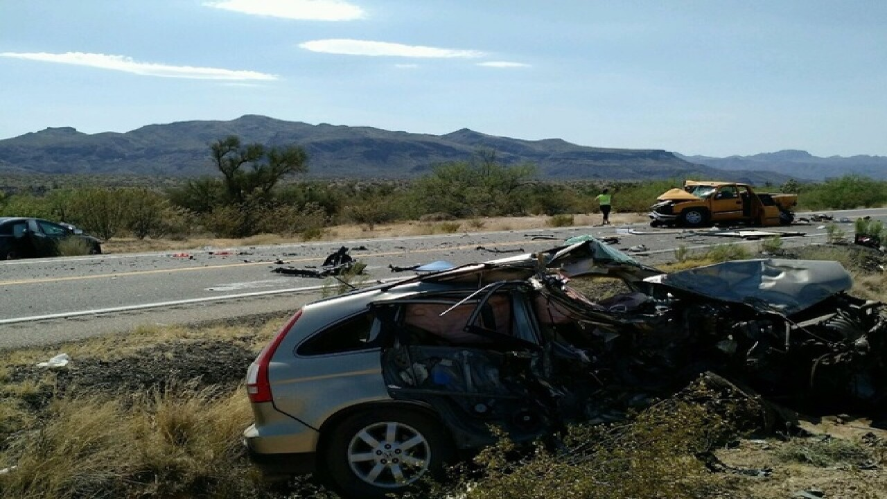 DPS: Two killed, two injured in crash on US 93