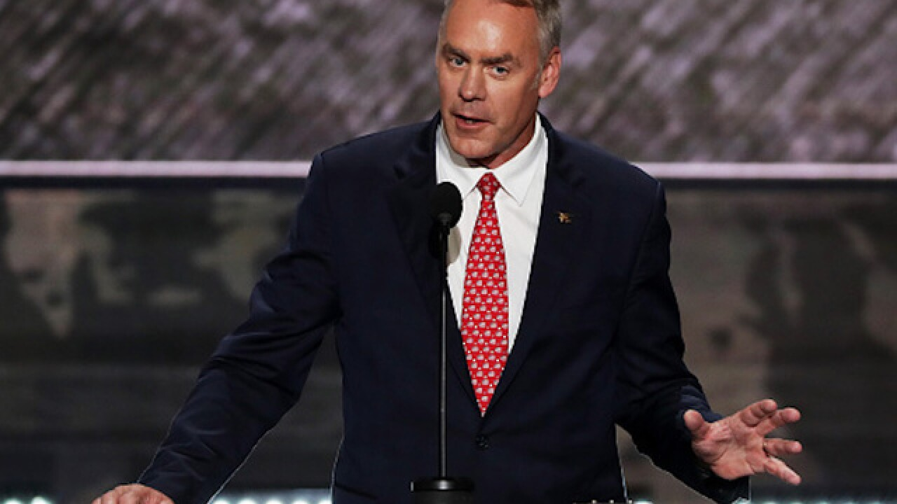 Montana Rep. Ryan Zinke will run Trump's Interior Department