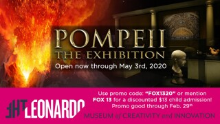 "Use the FOX 13 promo code and save on tickets to ""Pompeii: The Exhibition,"" open now at The Leonardo."