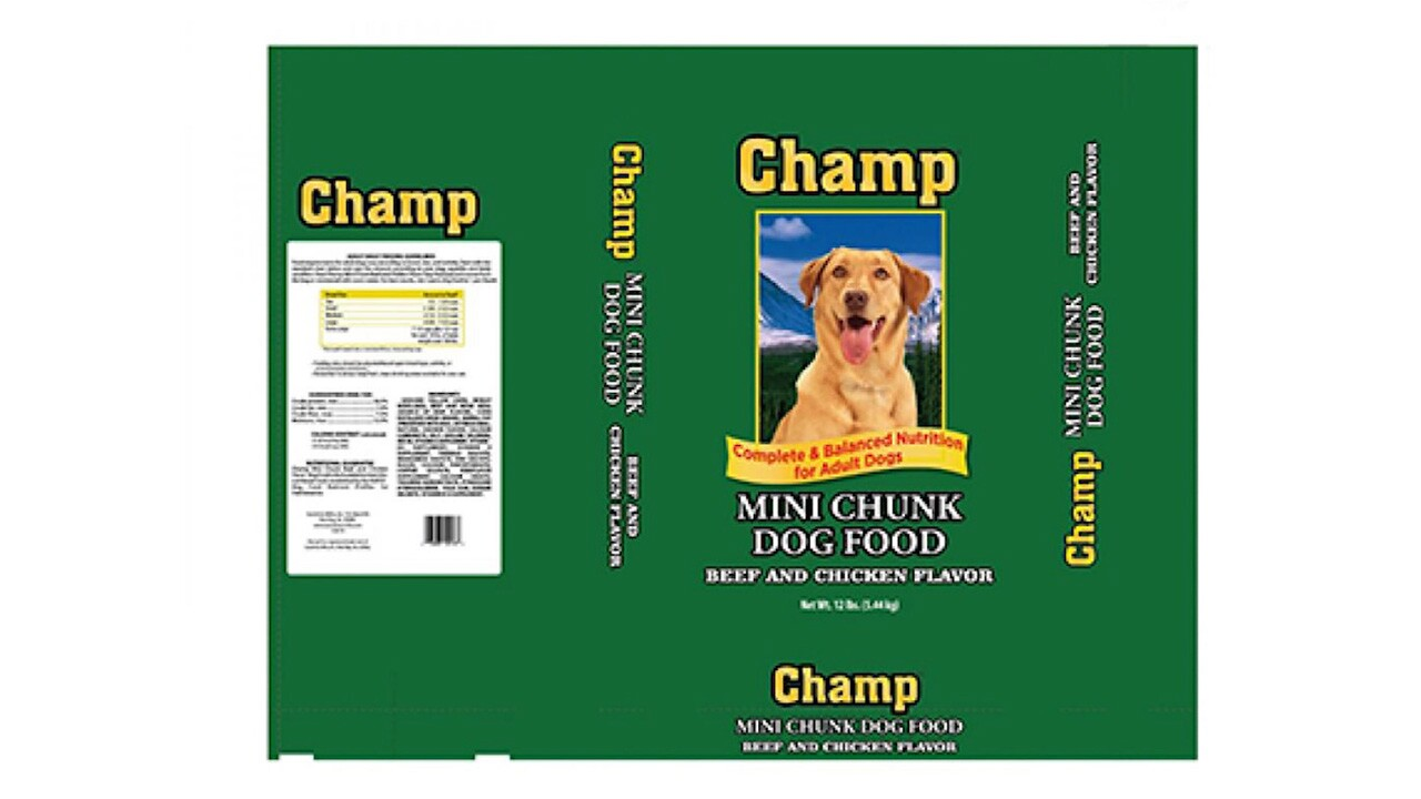 Some of the brands are Champ, Field Trial, and Good Dog, but there are many others.