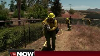 Brush fire scorches 35 acres in Ramona