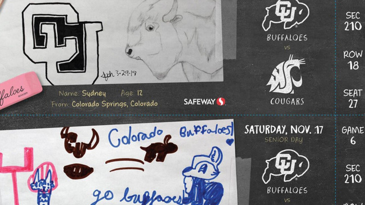 CU season football tickets will feature artwork by kids at Children's Hospital Colorado