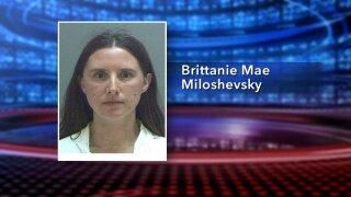 Mug shot of Brittanie Mae Miloshevsky.