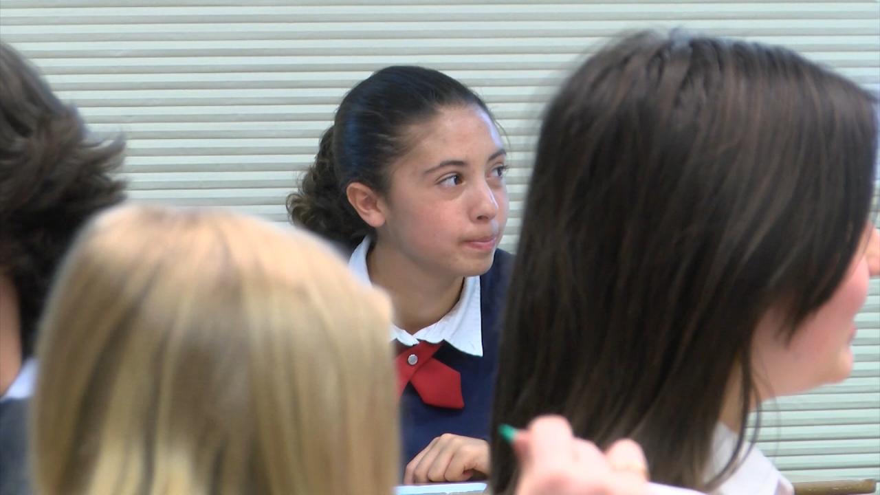 Mia Melton in class at St. Andrew School