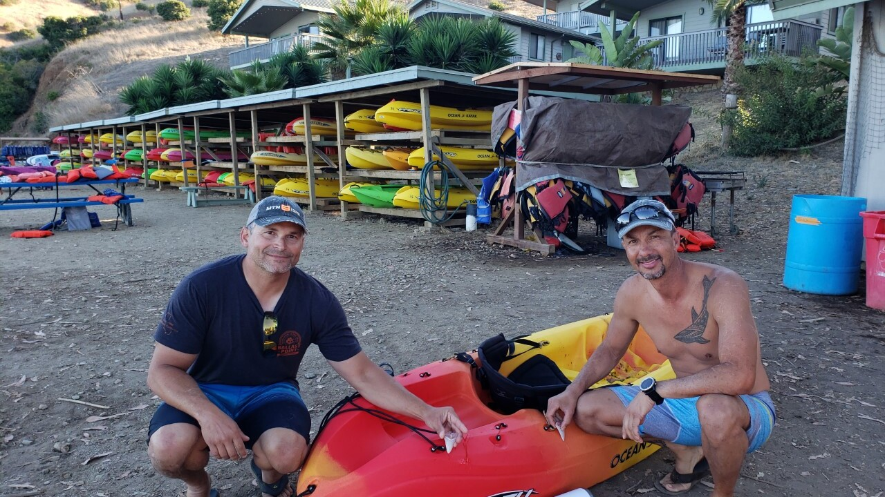 Great white shark takes bite out of California man's kayak