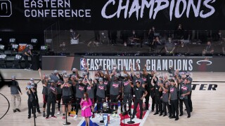 Miami Heat celebrate 2020 Eastern Conference championship, September 2020